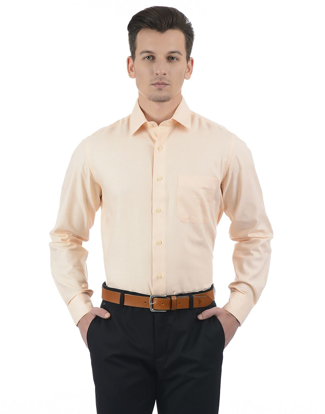 Arrow Men Formal Wear Solid Shirt