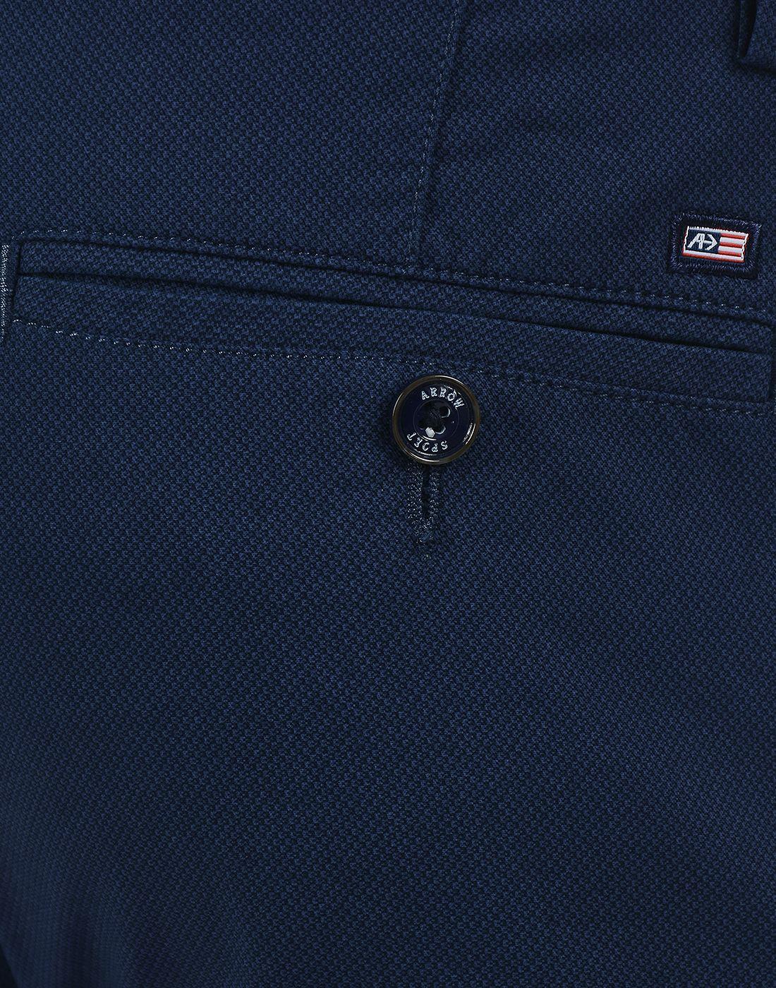 Arrow Sport Men Formal Wear Printed Trousers