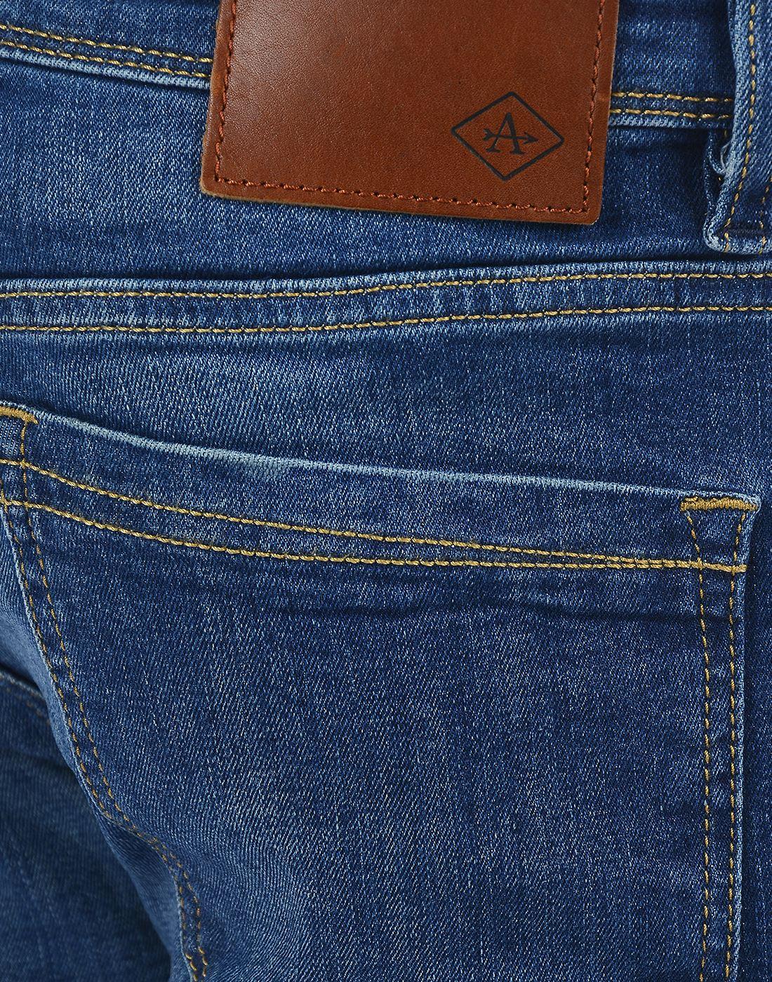Arrow Sport Men Casual Wear Solid Jeans