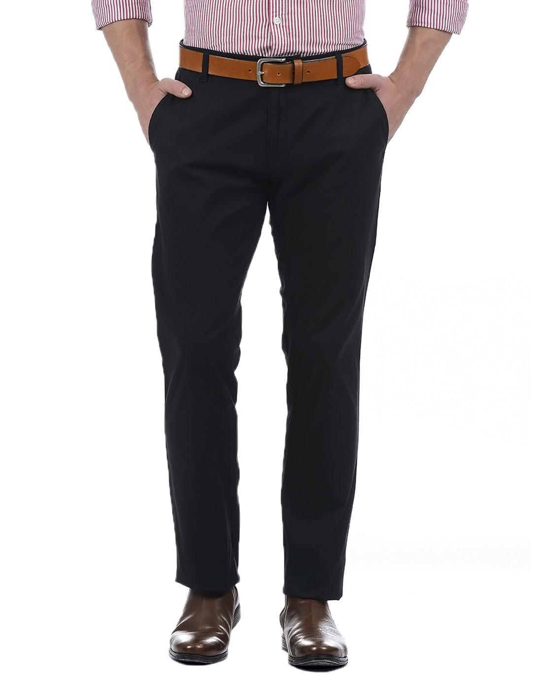 London Fog Men Black Trouser