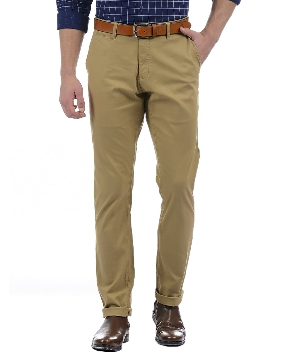 London Fog Men Khaki Trouser