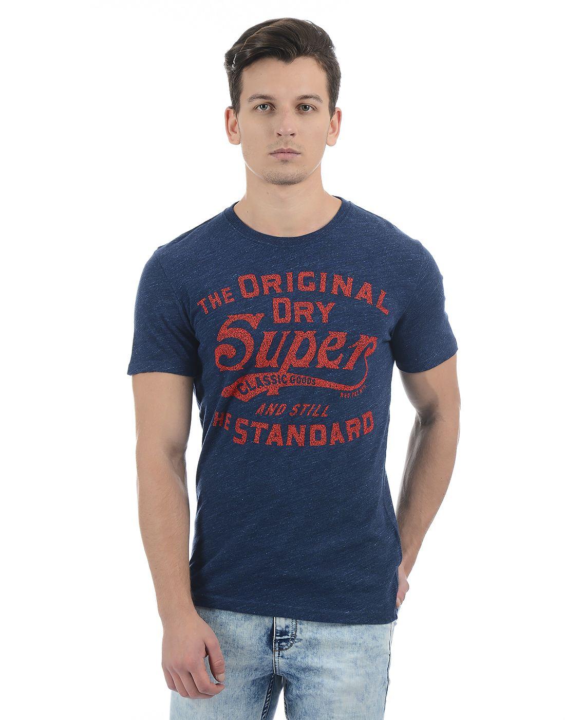 Superdry Blue Men T-Shirt