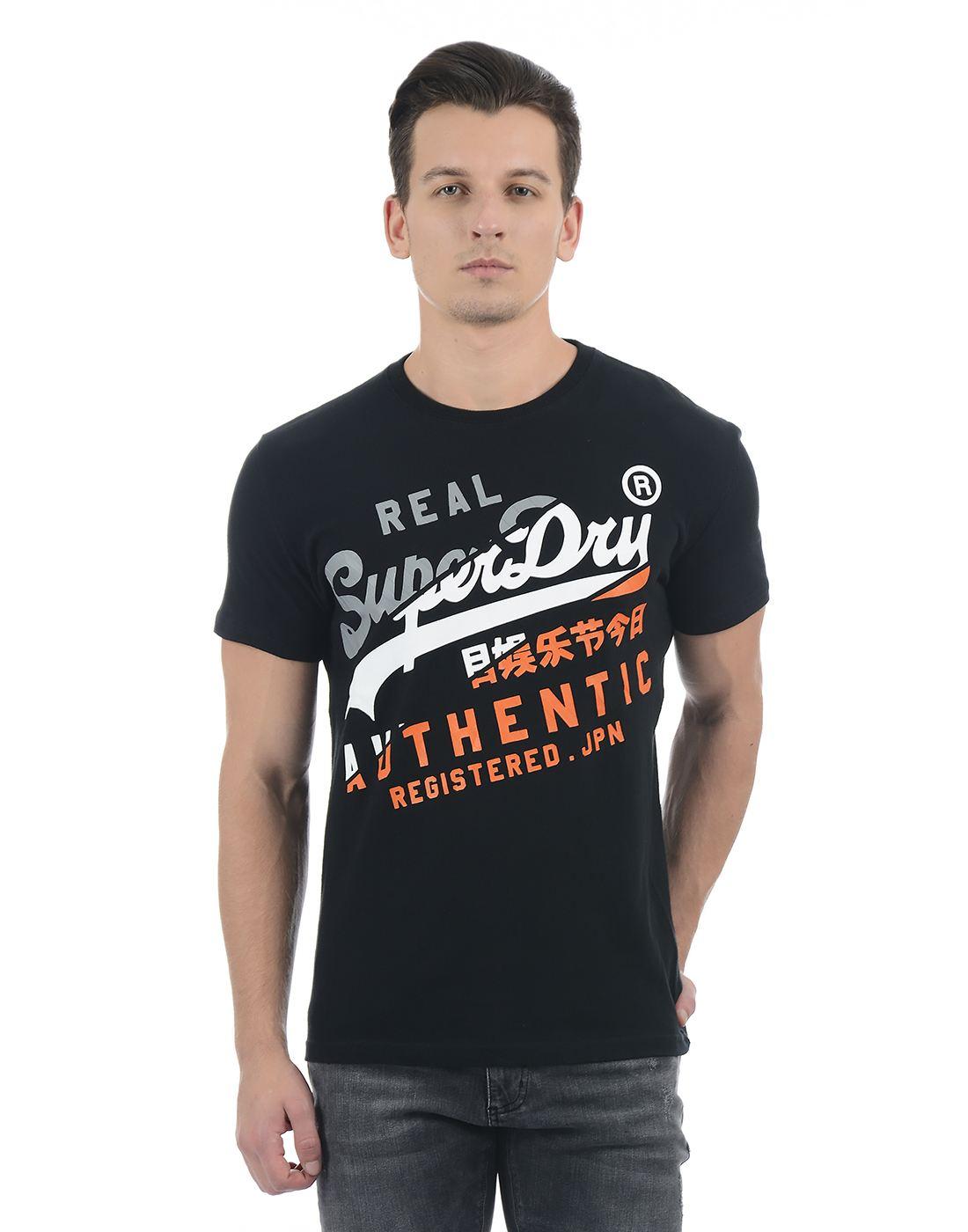 Superdry Black Men T-Shirt