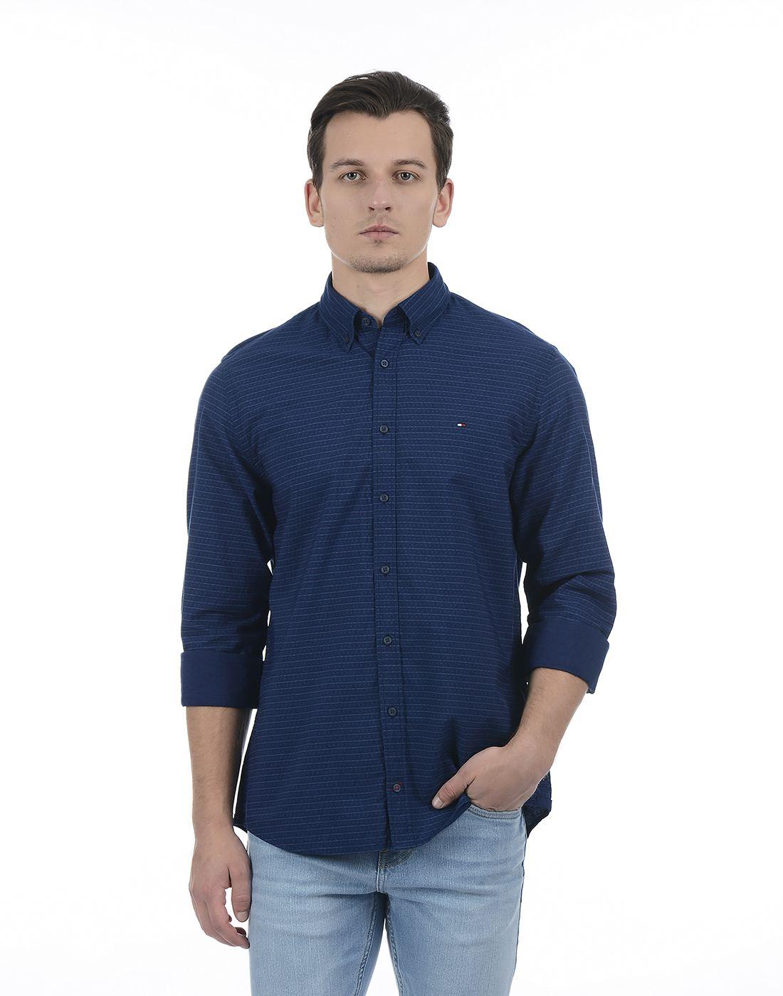 Tommy Hilfiger Men Dark Blue Shirt