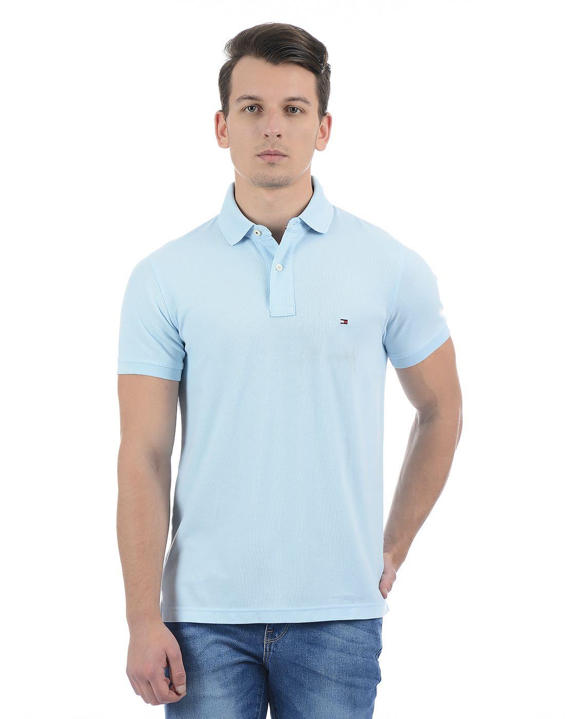 Tommy Hilfiger Men Light Blue Polo
