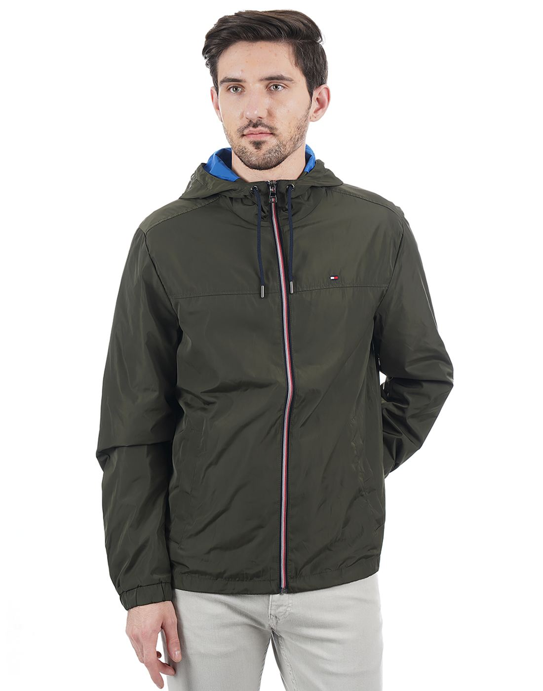 Tommy Hilfiger Men Green Jacket