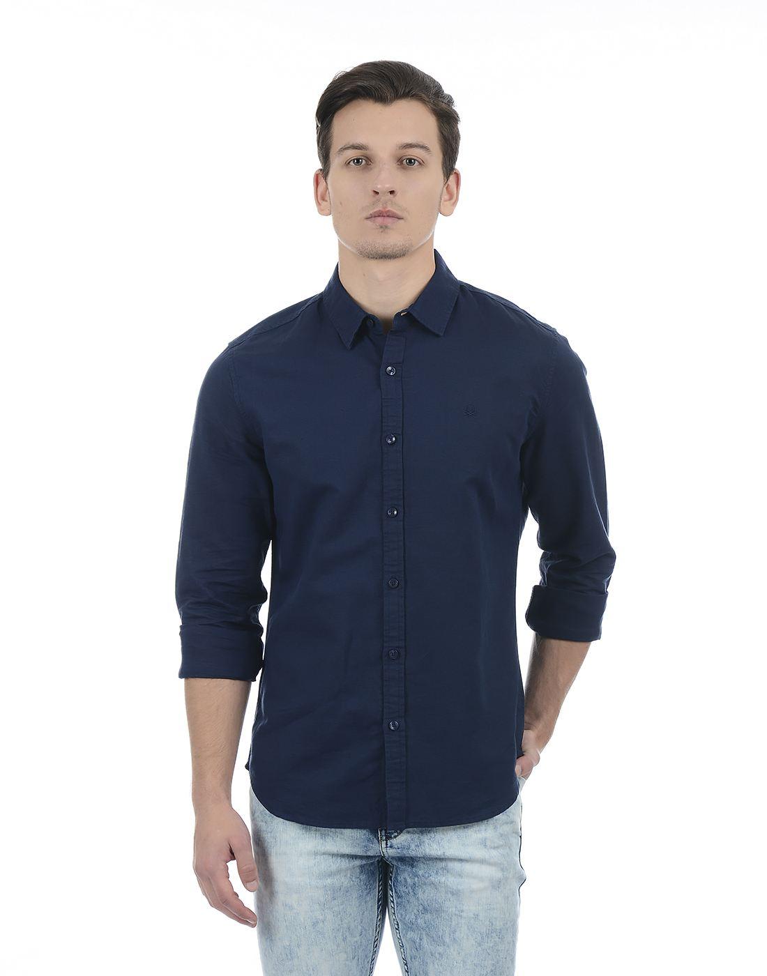 United Colors of Benetton Men Black Shirt
