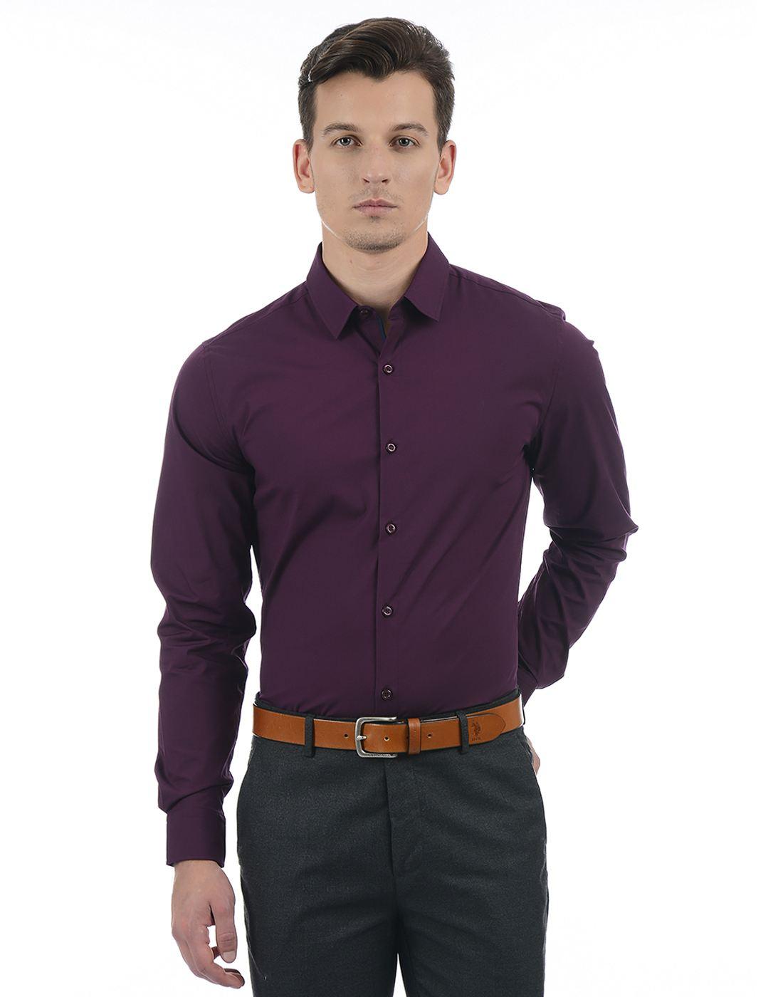 United Colors of Benetton Men Purple Shirt