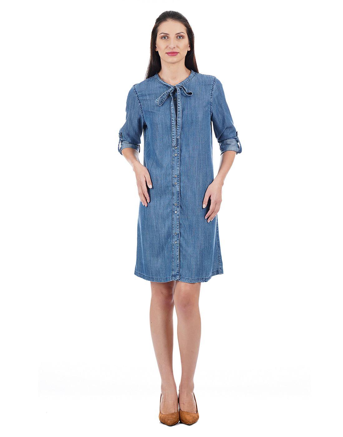 Elle Women Blue Dresses