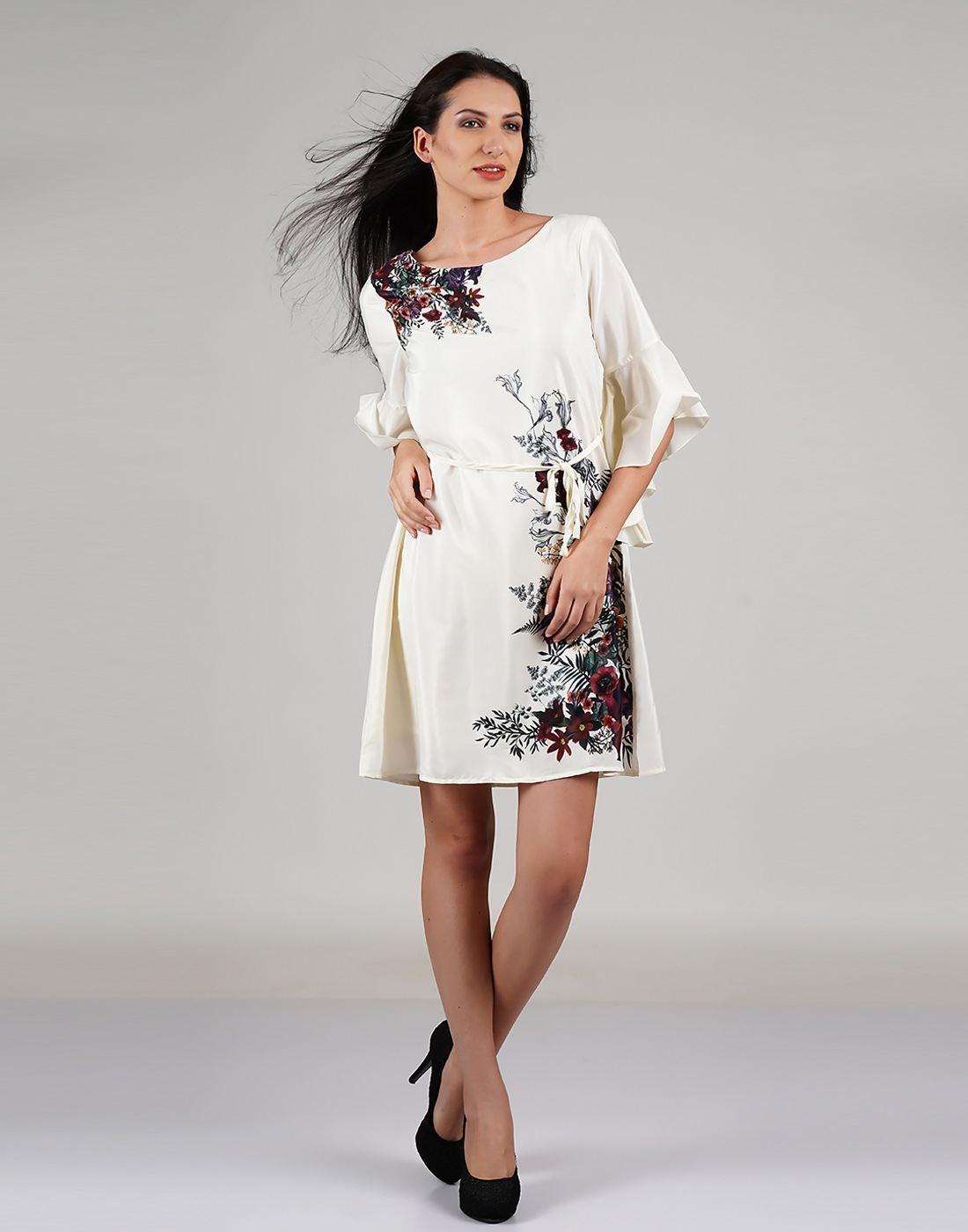 Elle Women Off White Dresses
