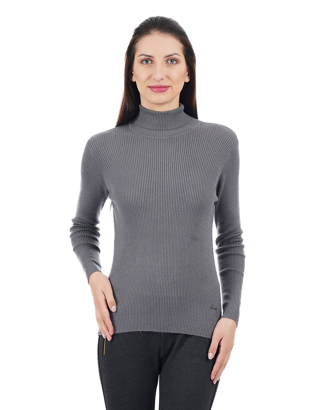Elle Women Grey Sweater
