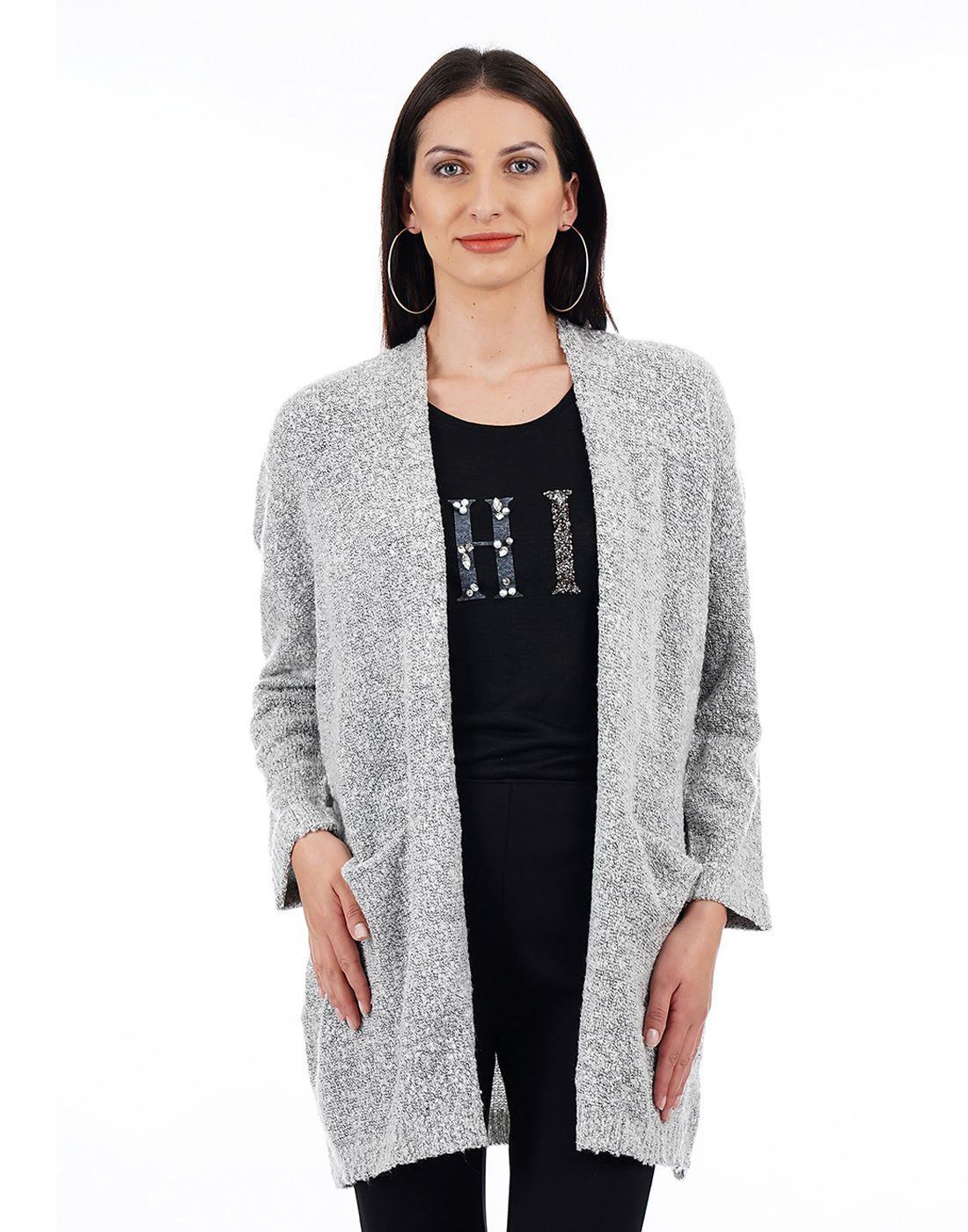 Elle Women Grey Shrug