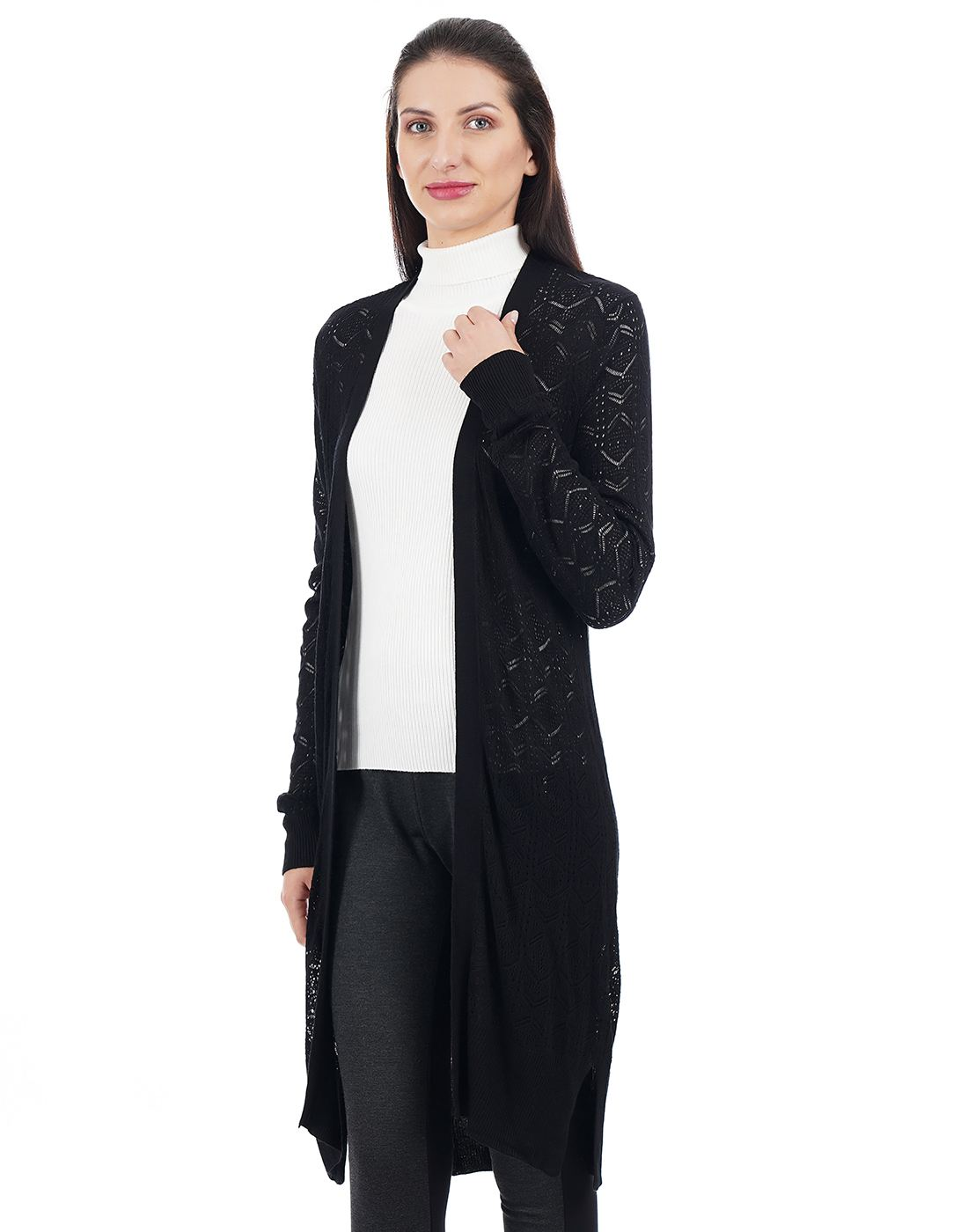 Elle Women Black Shrug