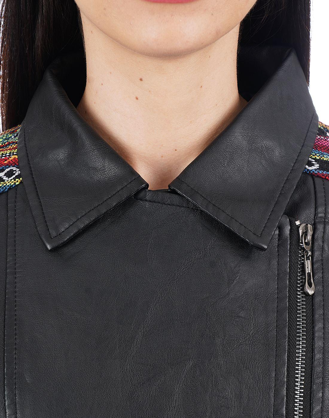 Elle Women Black Jacket