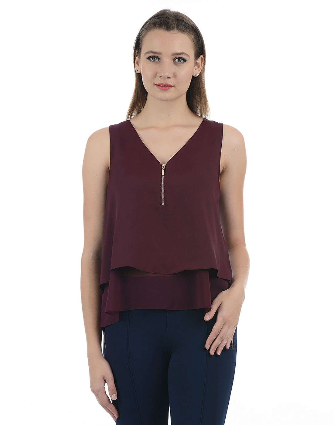 Forever New Women Maroon Top