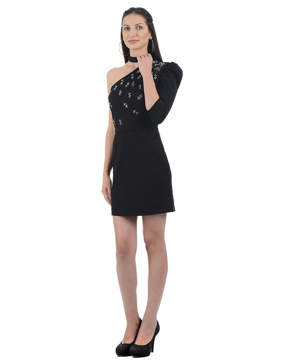 Kazo Women Black Mini Dress
