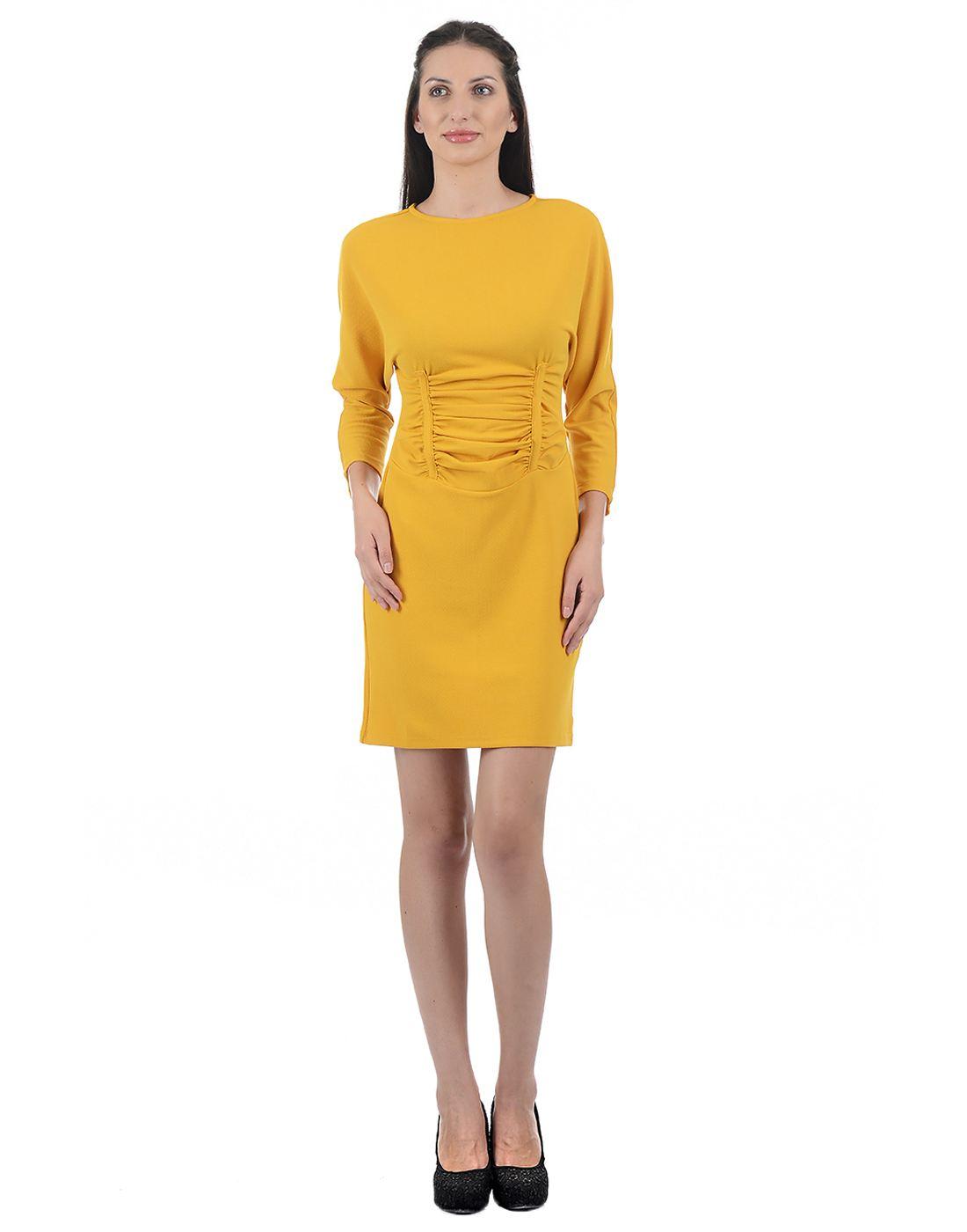Kazo Women Yellow Mini Dress