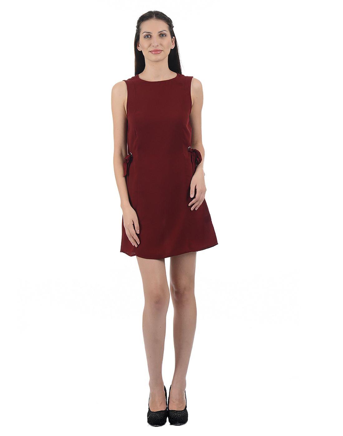 Kazo Women Maroon Mini Dress