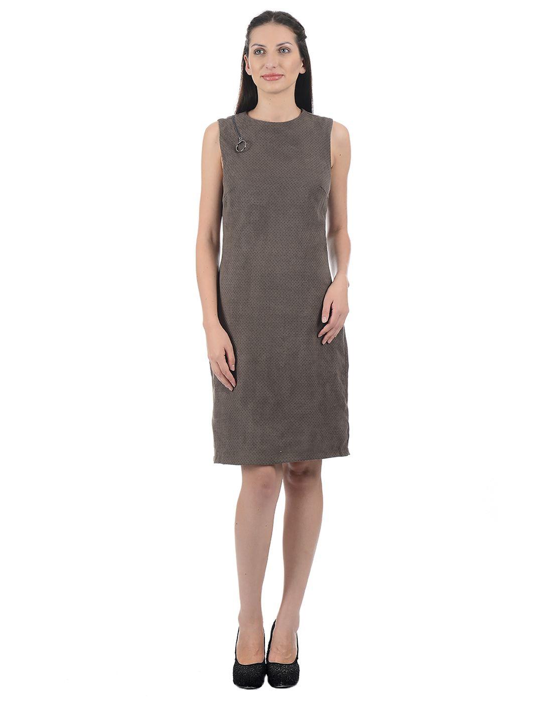 Kazo Women Grey Midi Dress