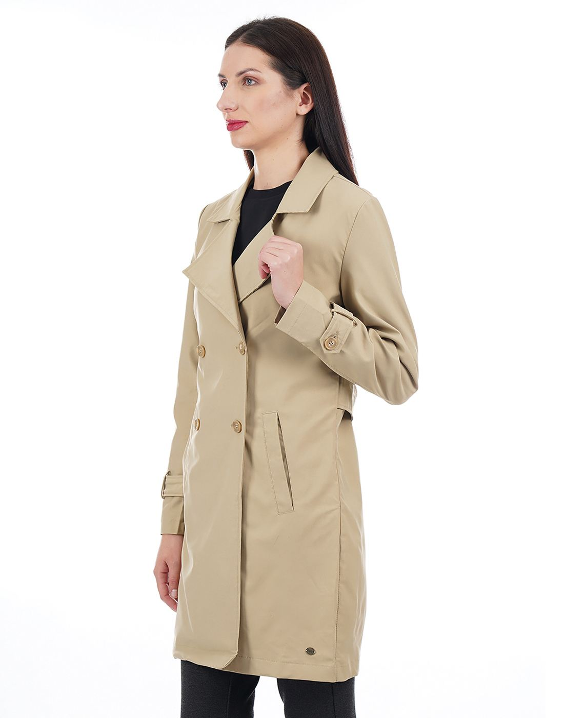 U.S. Polo Assn. Women Yellow Trenchcoat