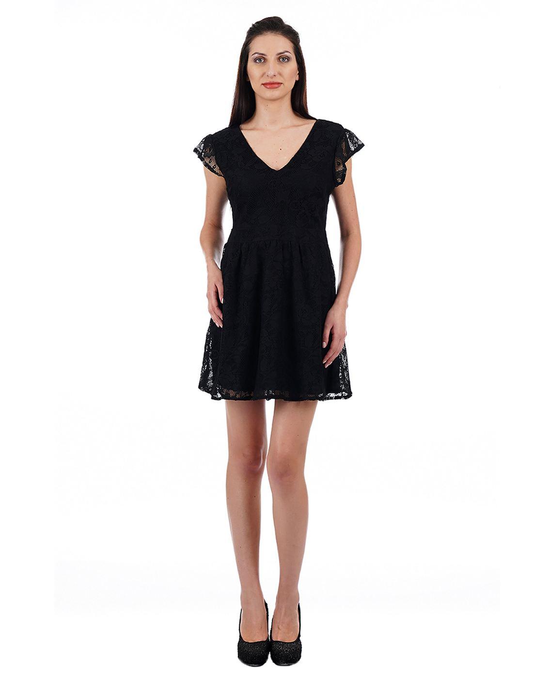 Aeropostale Women Black Dress
