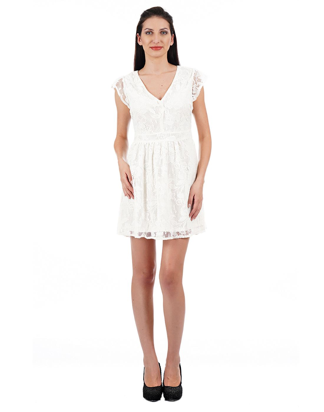 Aeropostale Women White Dress