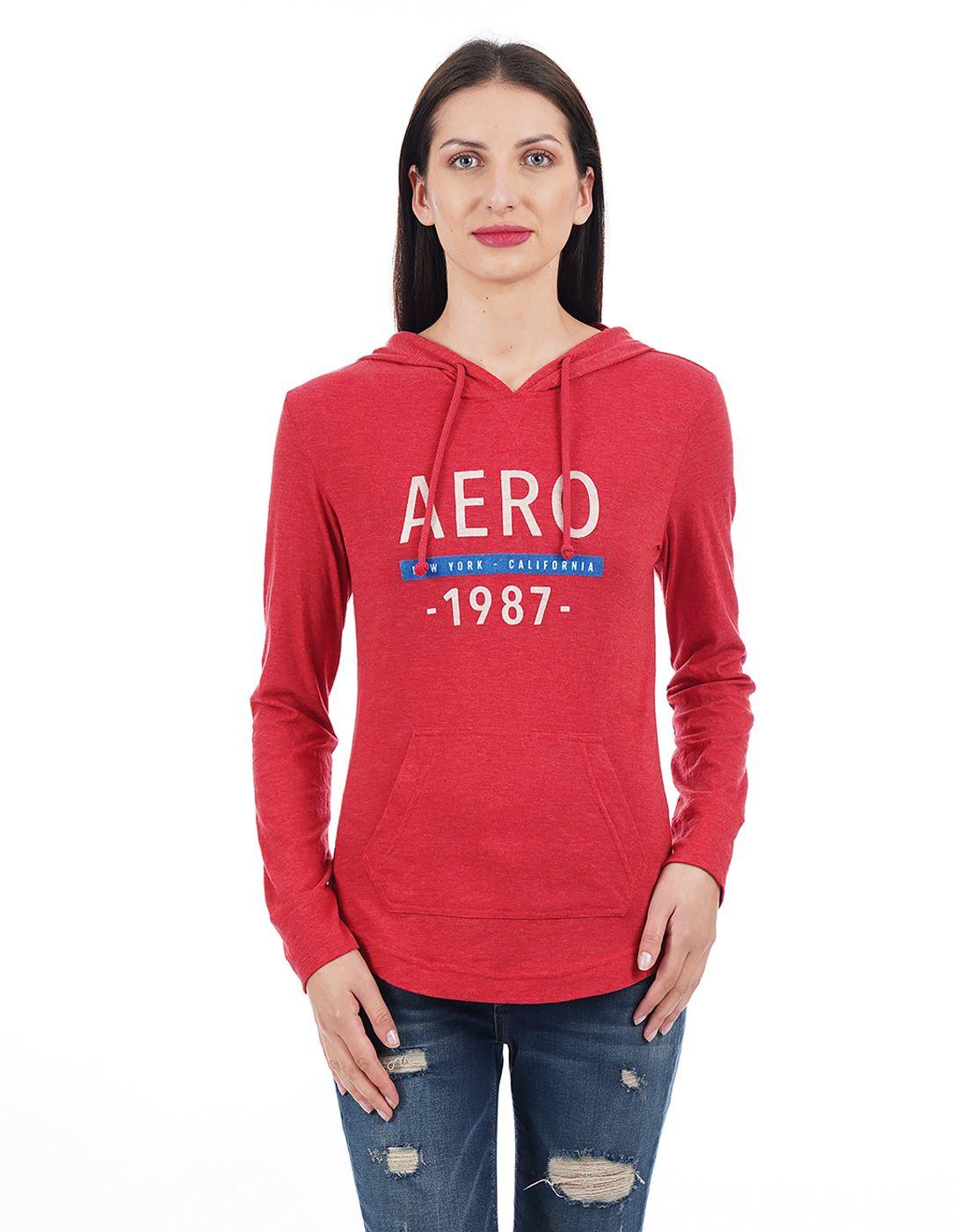 Aeropostale Women Red Sweatshirt