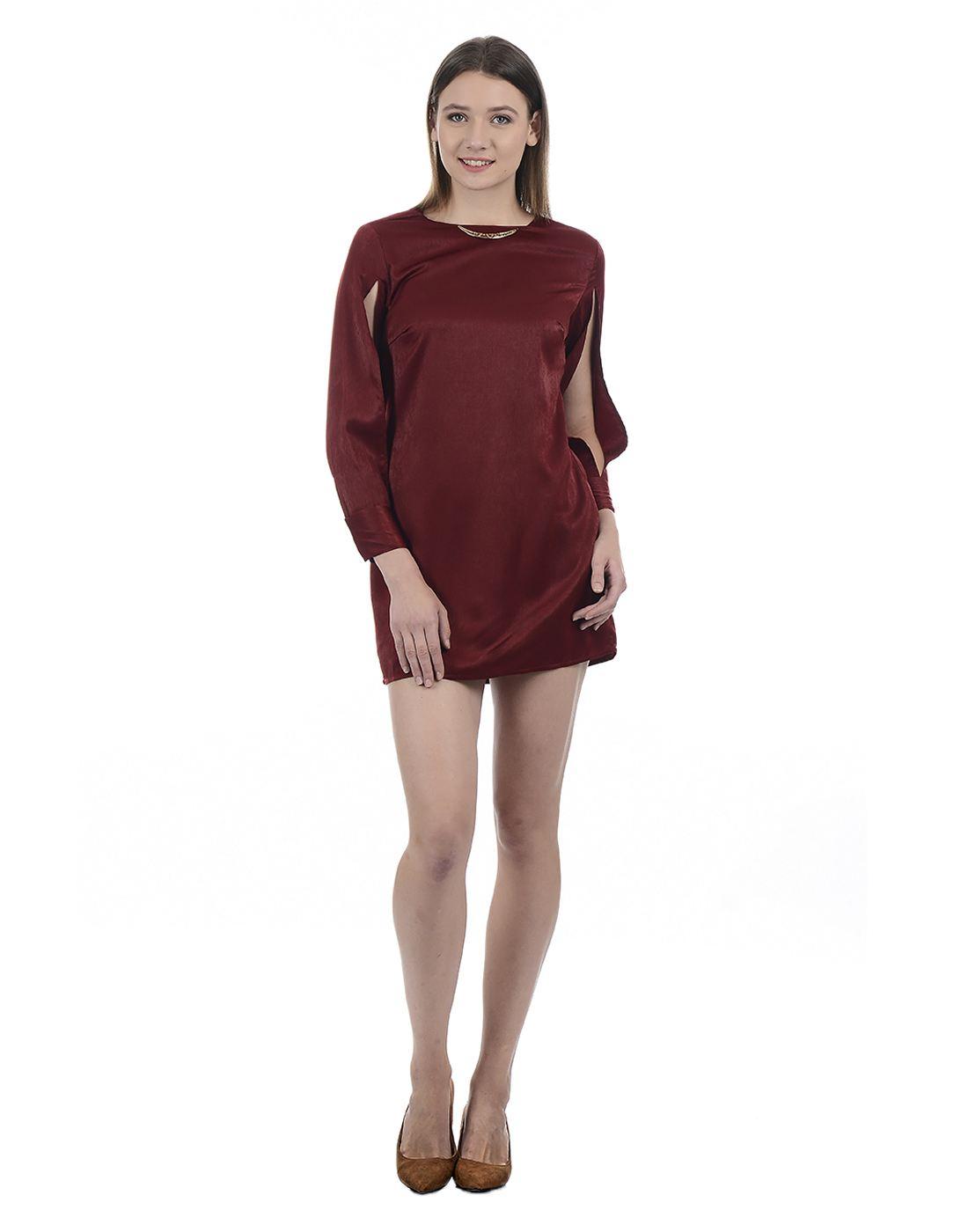 Kazo Women Ruby Wine Dresses