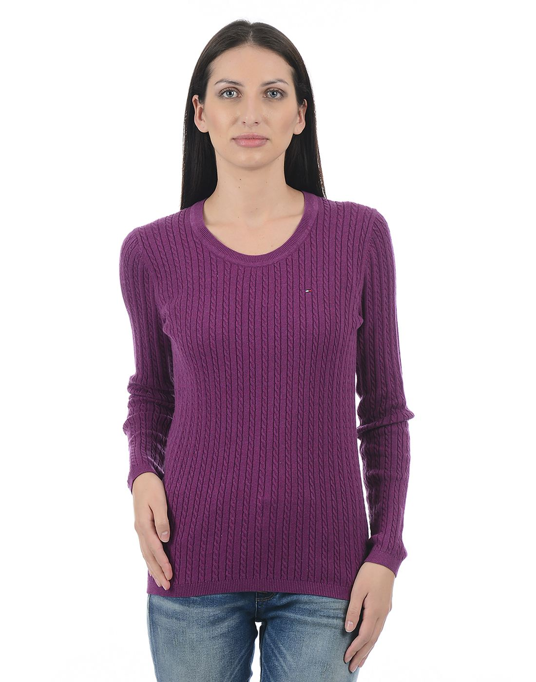 Tommy Hilfiger Women Purple Sweater