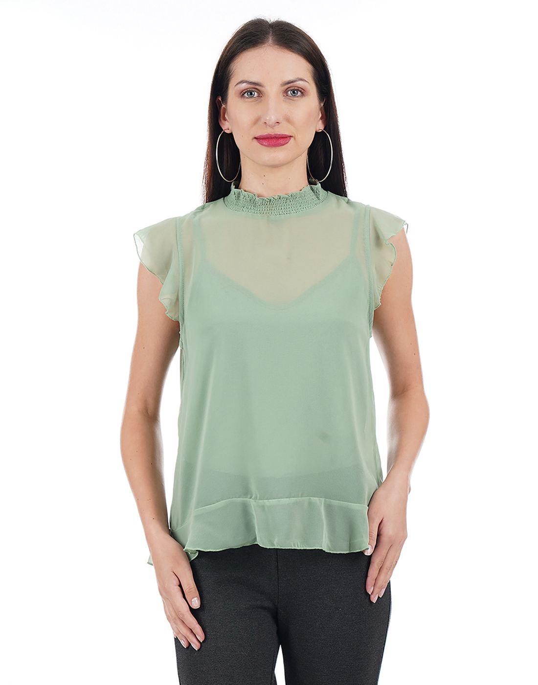 Vero Moda Women Green Top