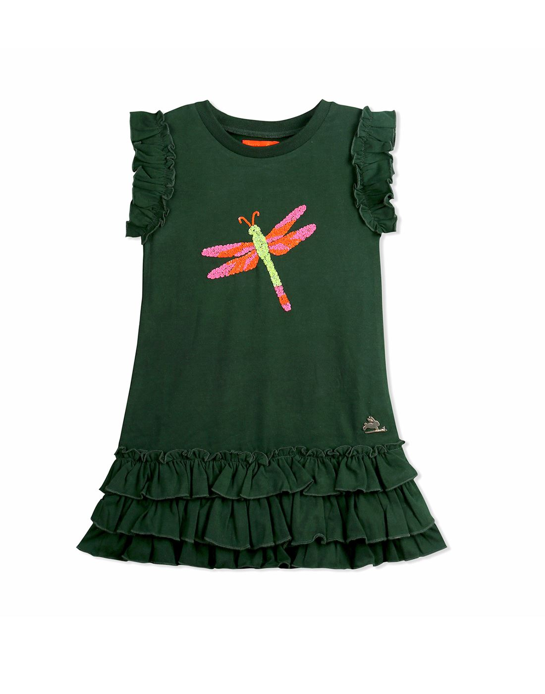 Cherry Crumble California Casual Wear Applique Girls Dresses