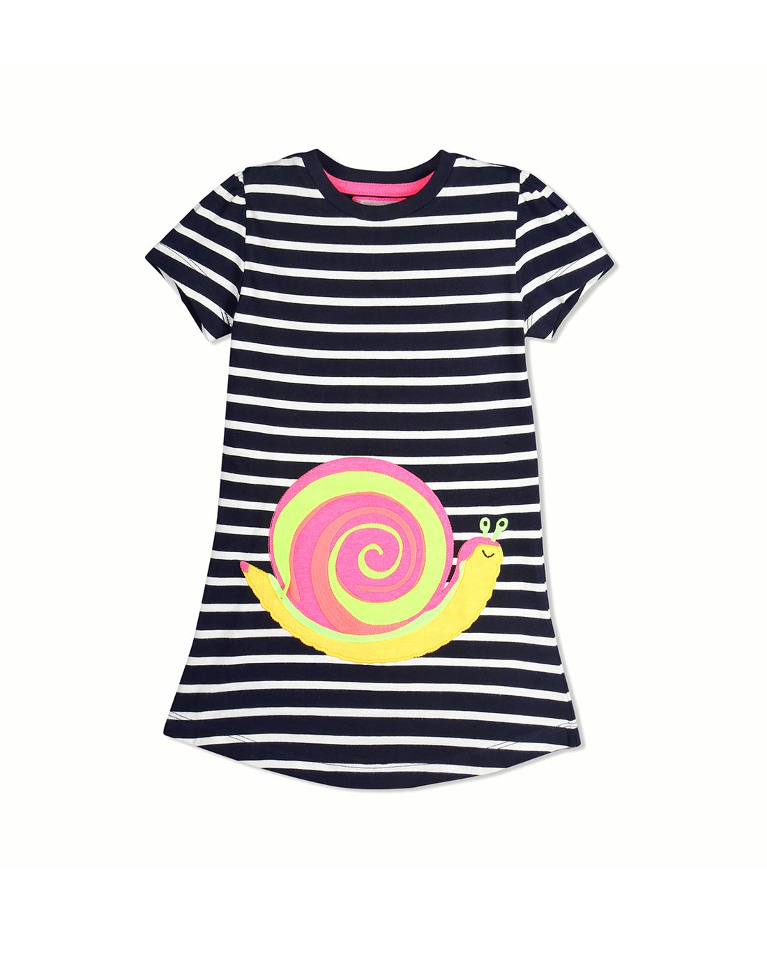 Cherry Crumble California Casual Wear Striped Girls Dresses