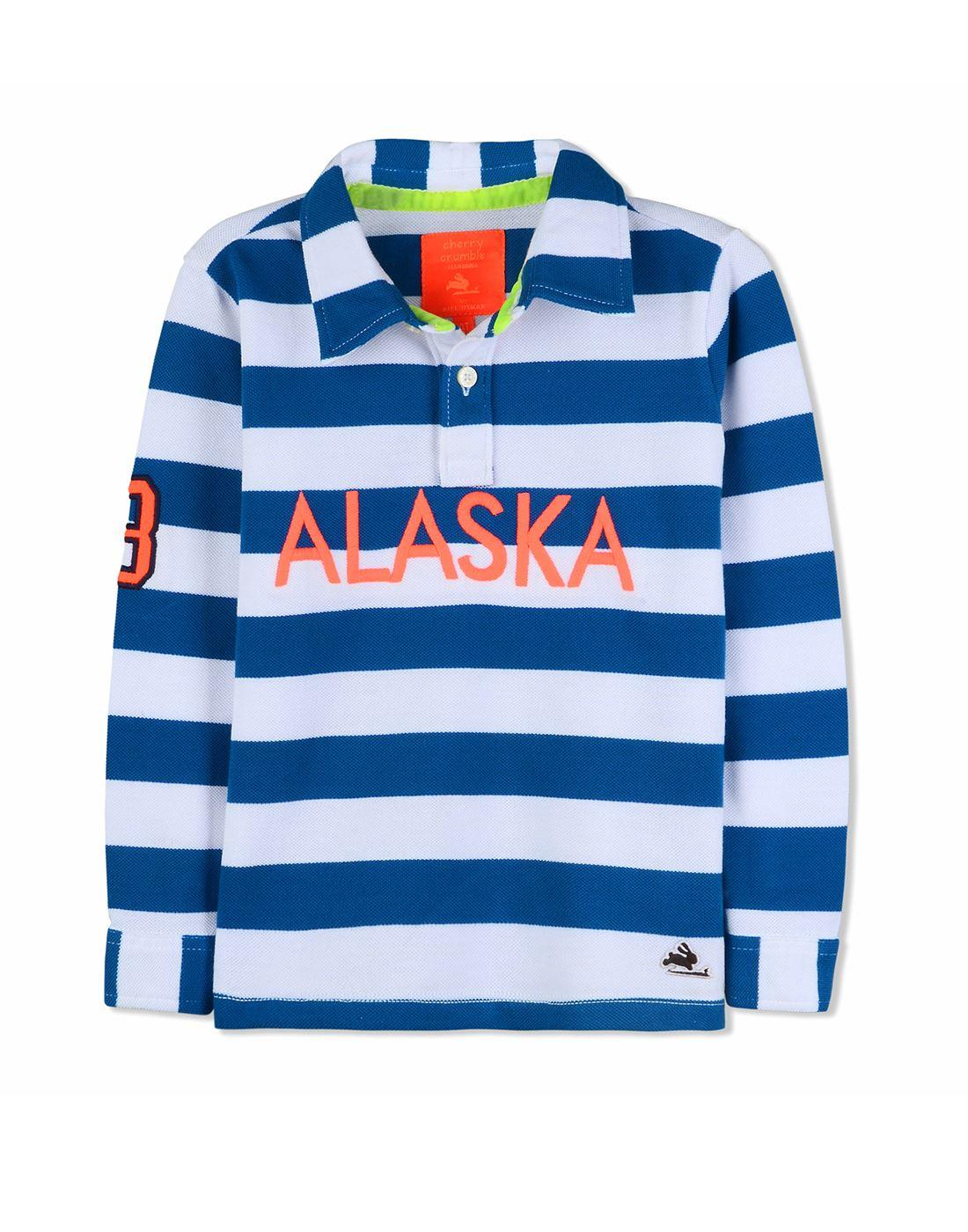 c9825609a Cherry Crumble California Casual Wear Striped Boys T-Shirt