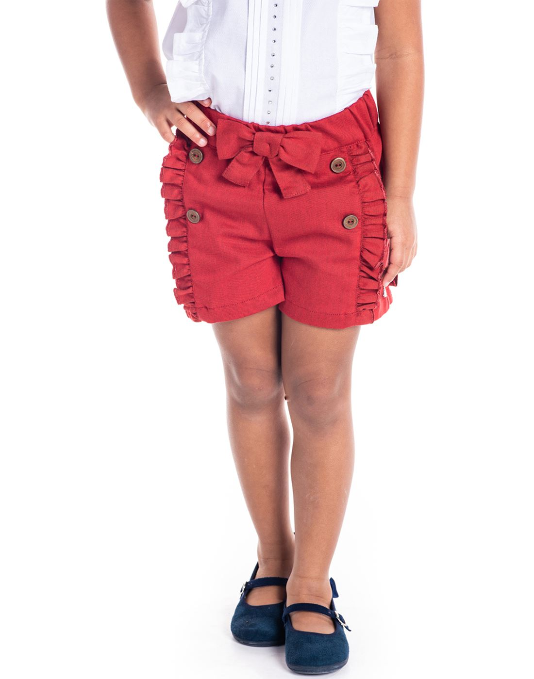 Cherry Crumble California Casual Wear Solid Girls Shorts