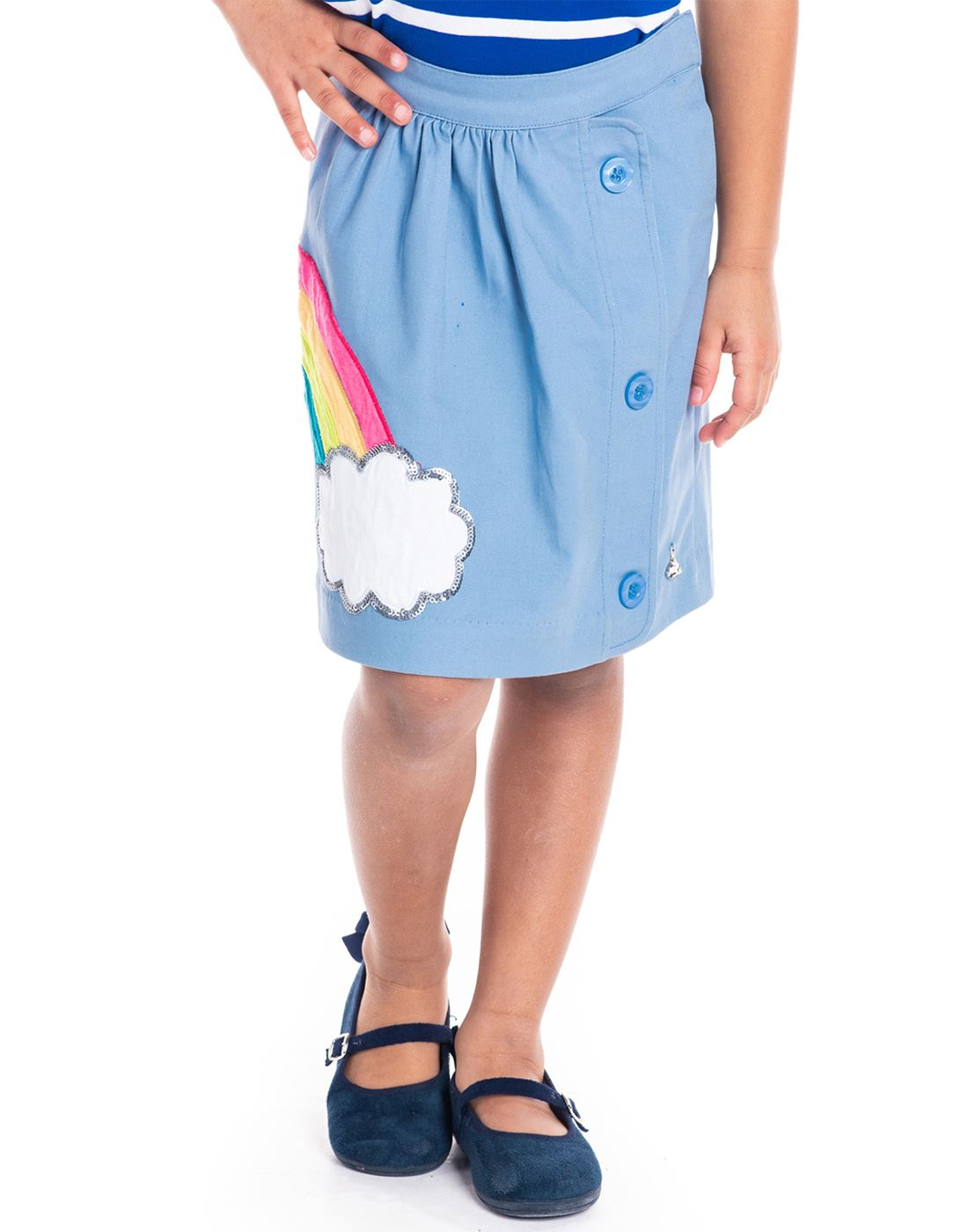Cherry Crumble California Casual Wear Applique Girls Skirt