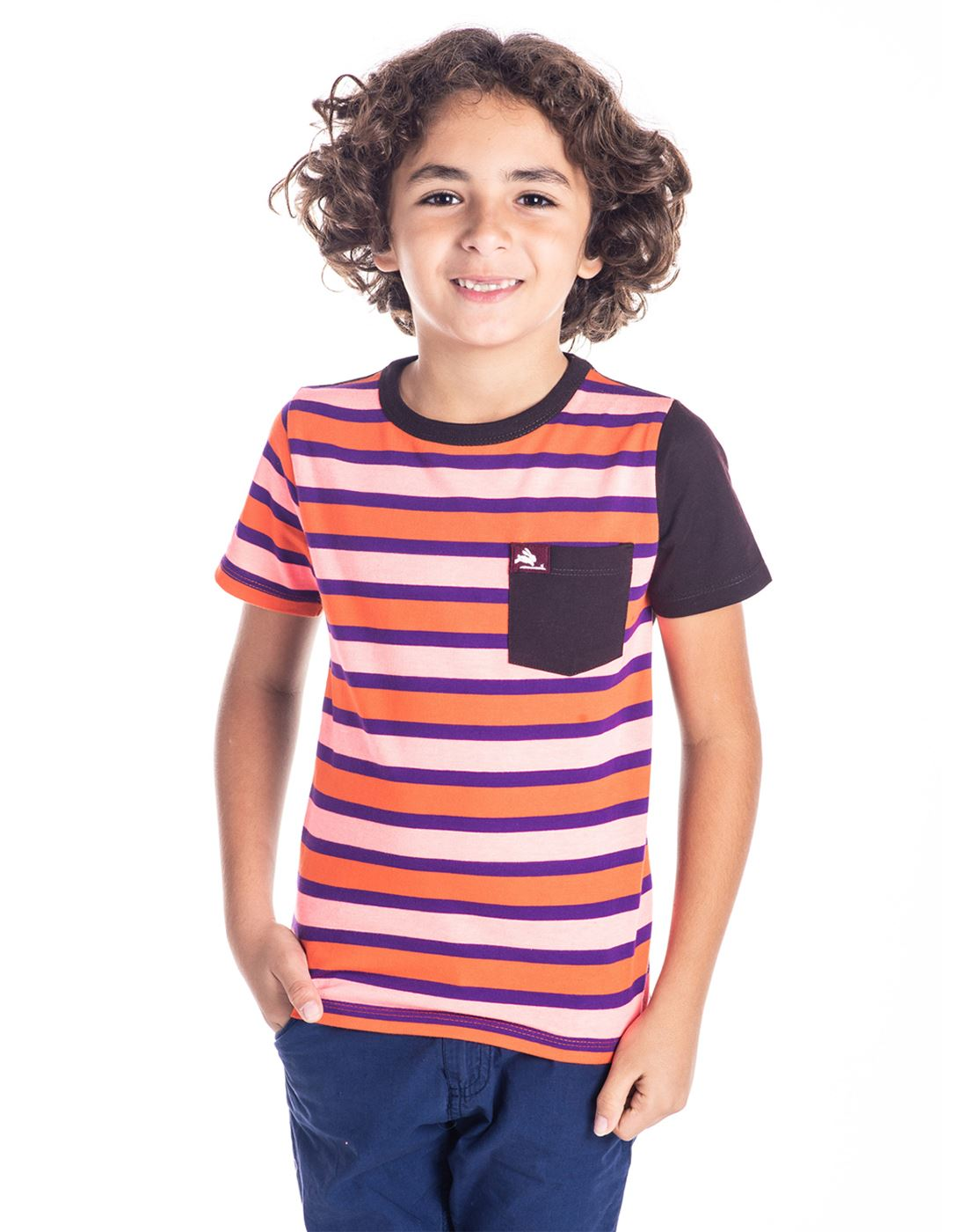 Cherry Crumble California Casual Wear Striped Boys T-Shirt