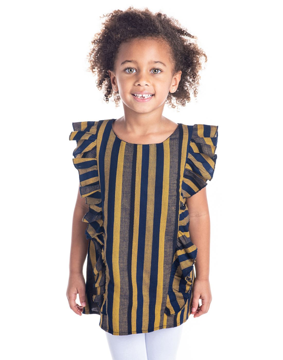 Cherry Crumble California Casual Wear Striped Girls Top