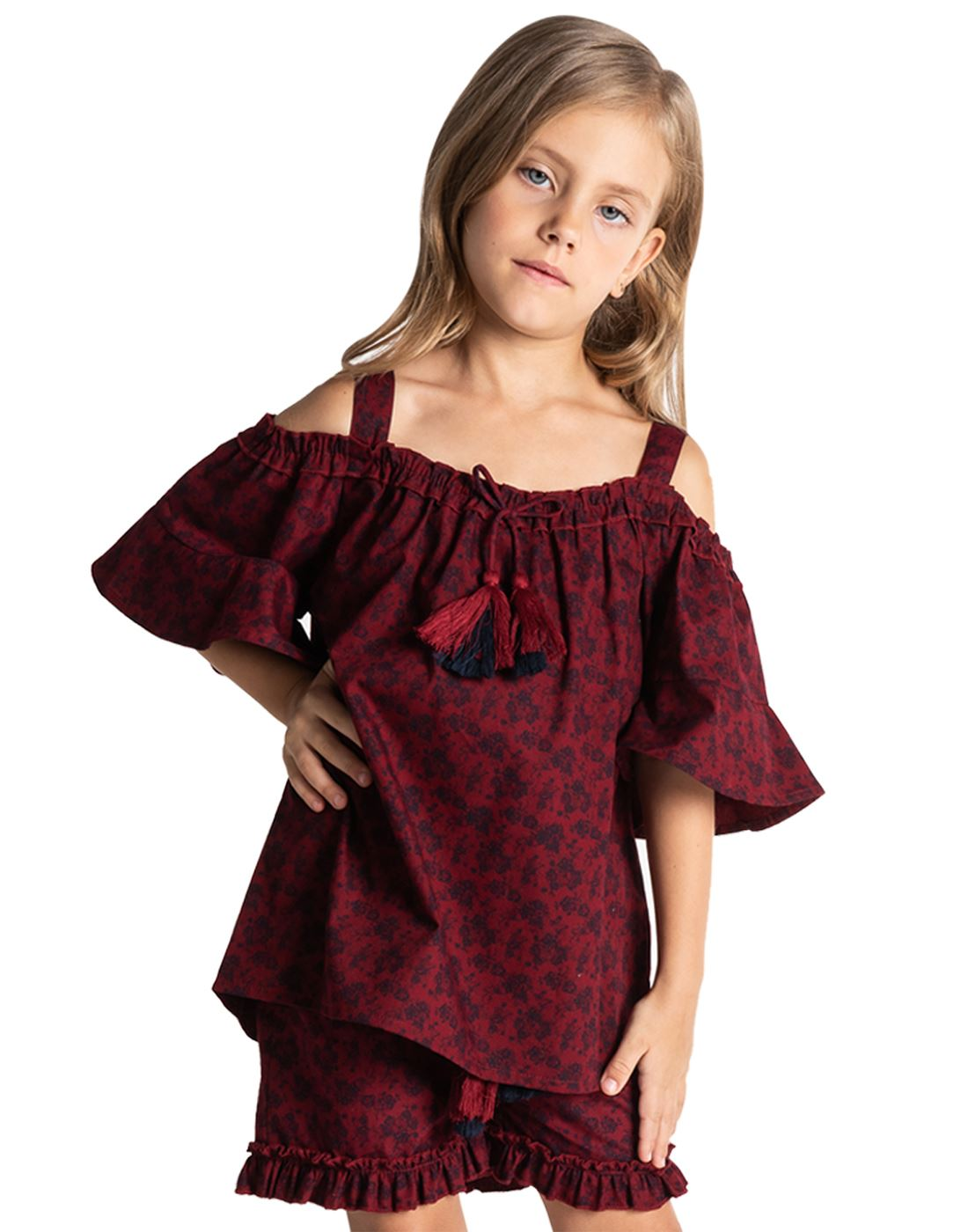 Cherry Crumble California Girls Casual Wear Printed Set