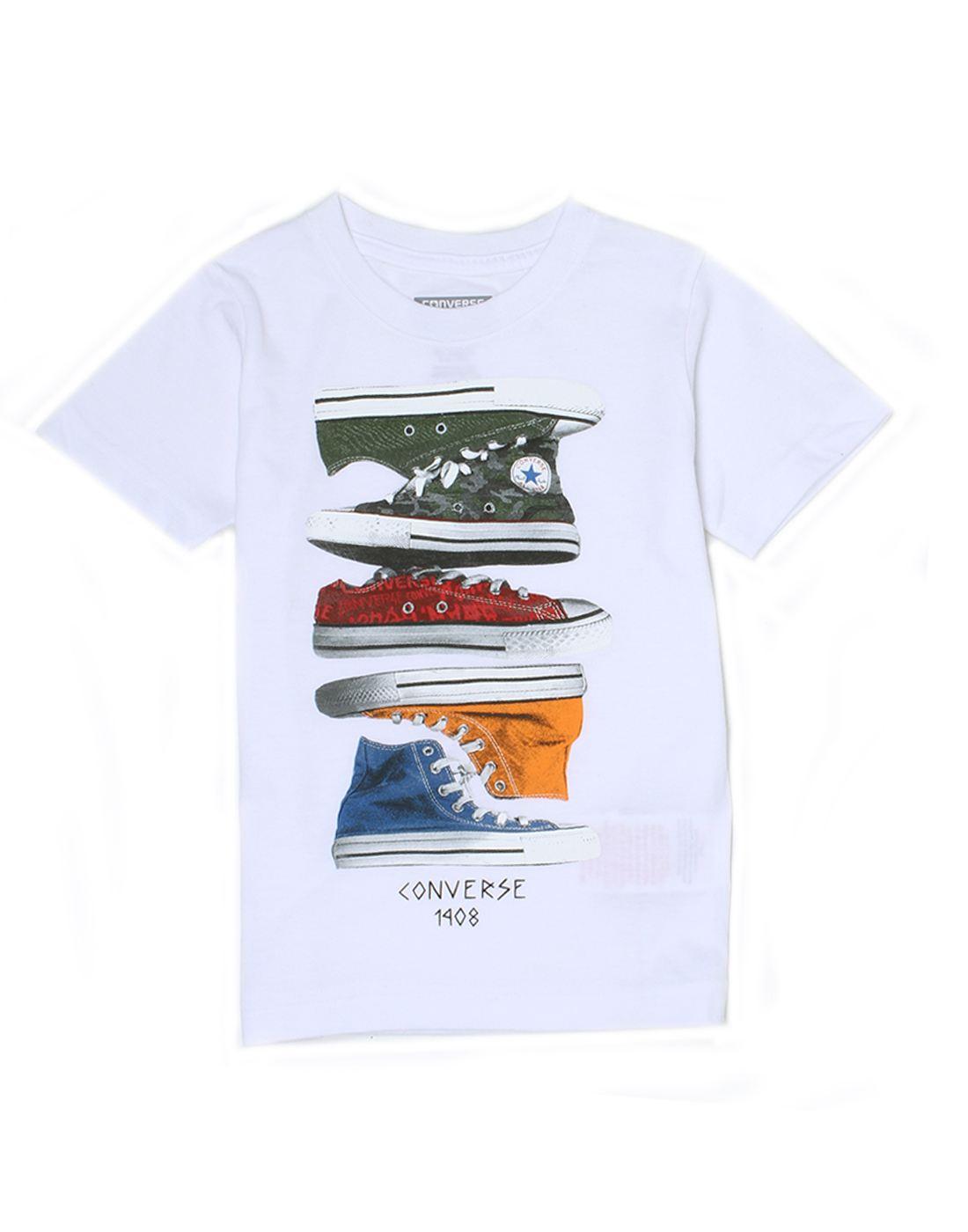 Converse Boys White T-Shirt