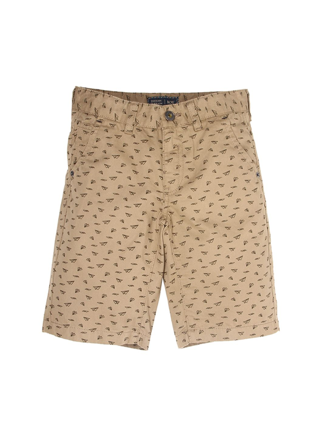 Indian Terrain Boys Brown Casual Shorts