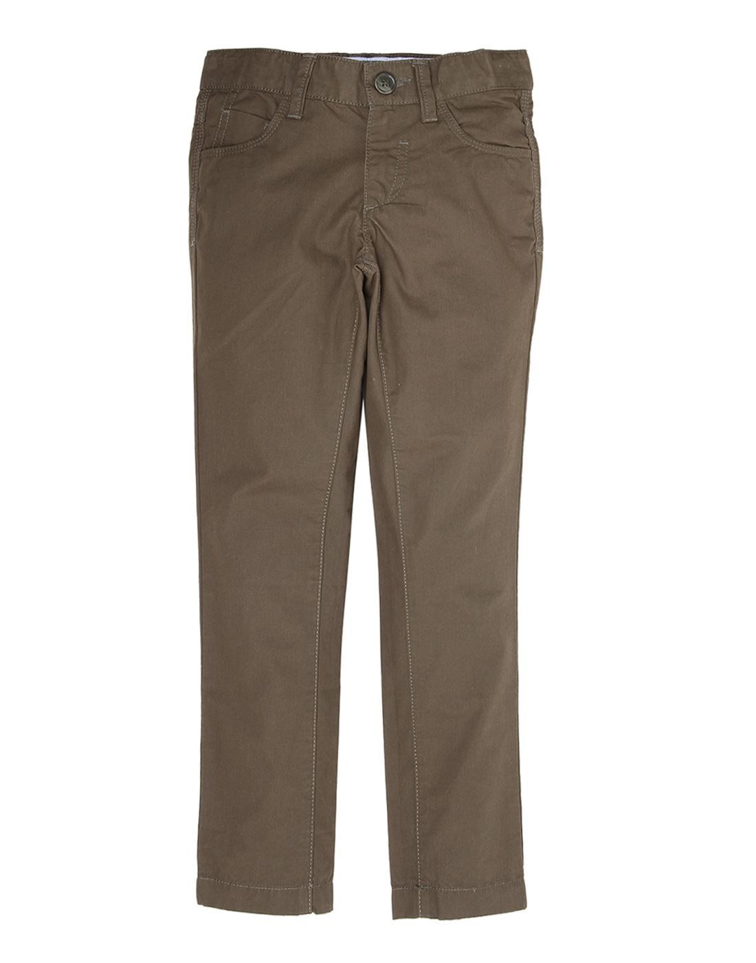 Indian Terrain Boys Brown Casual Trouser