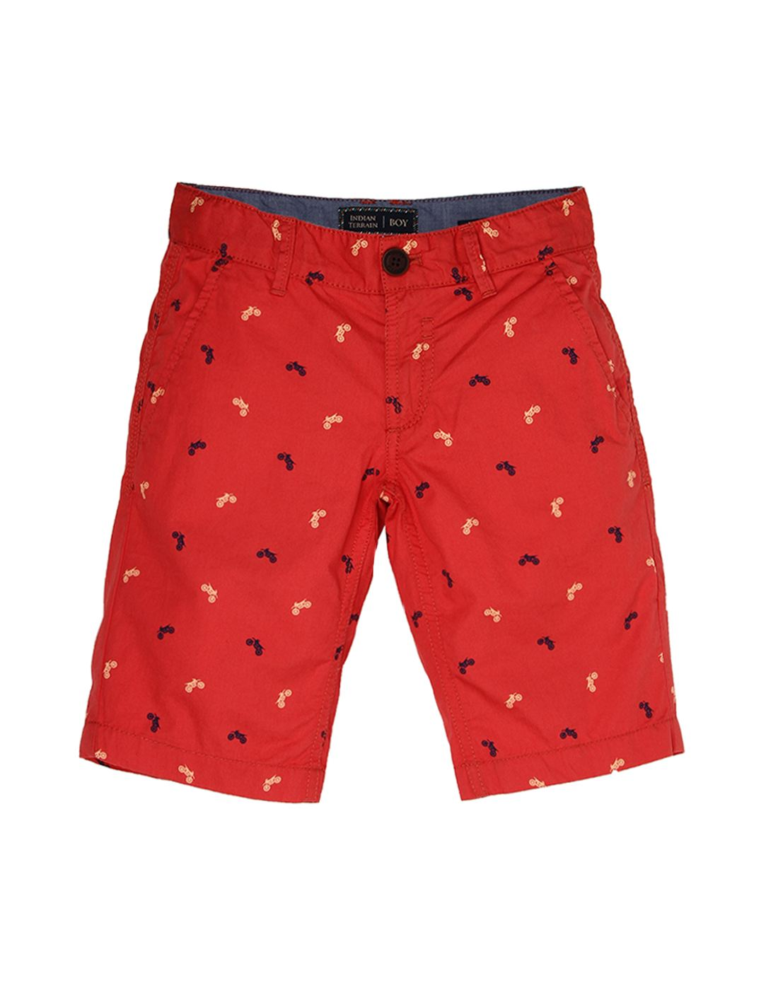 Indian Terrain Boys Red Casual Shorts