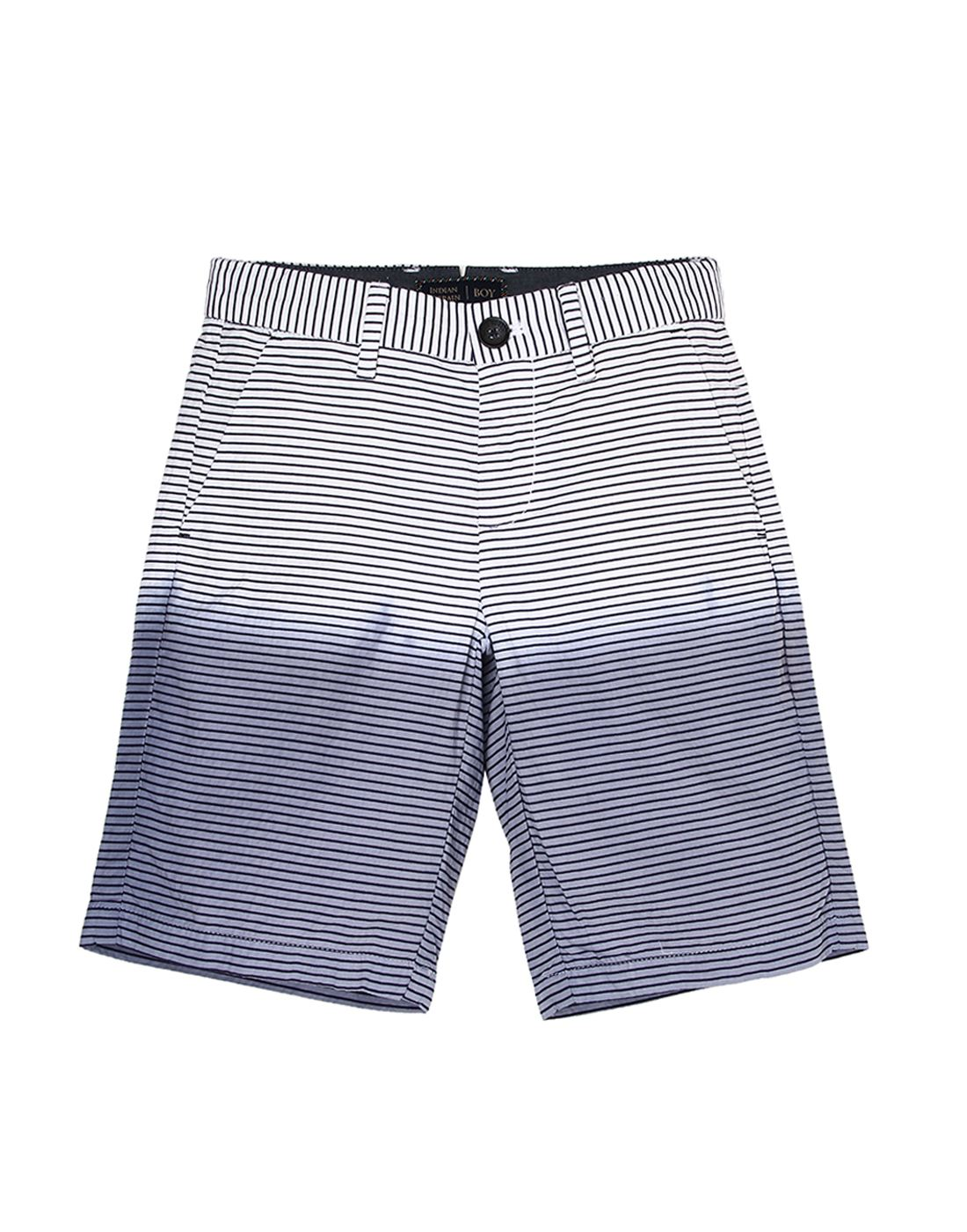 Indian Terrain Boys White Casual Shorts