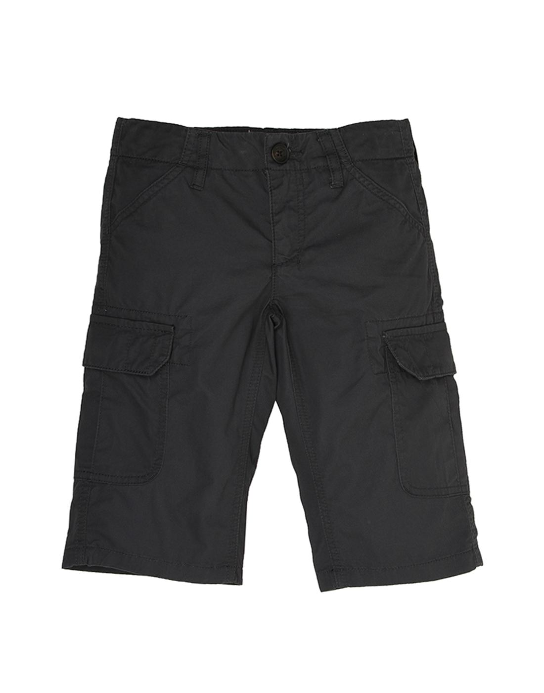 Indian Terrain Boys Grey Casual Shorts
