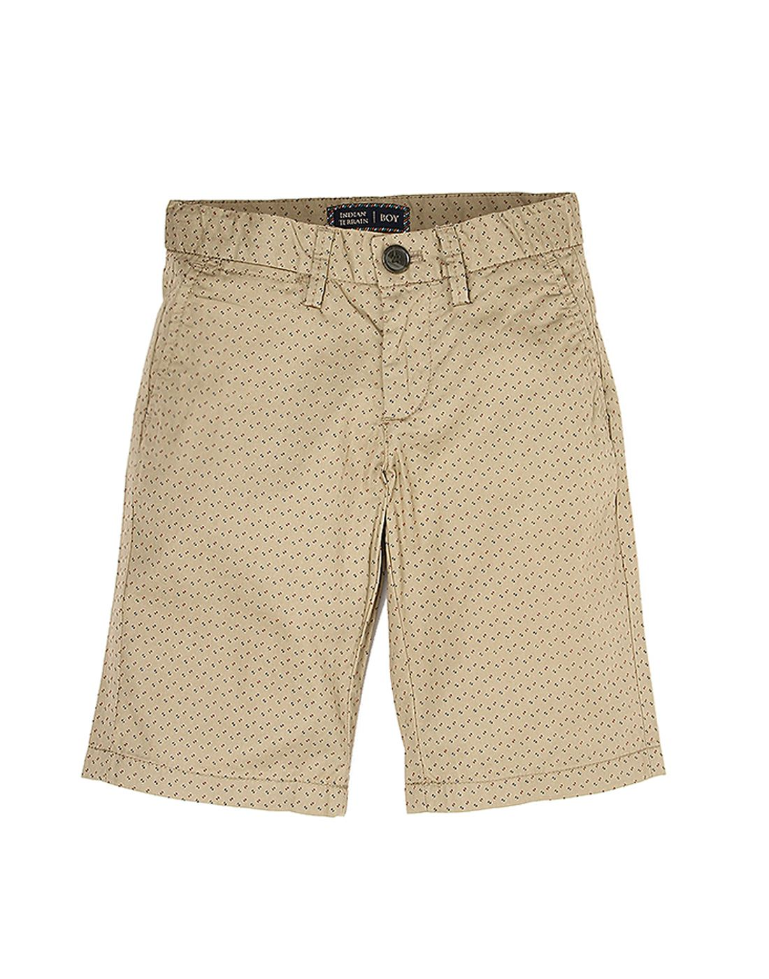 Indian Terrain Boys Beige Casual Shorts