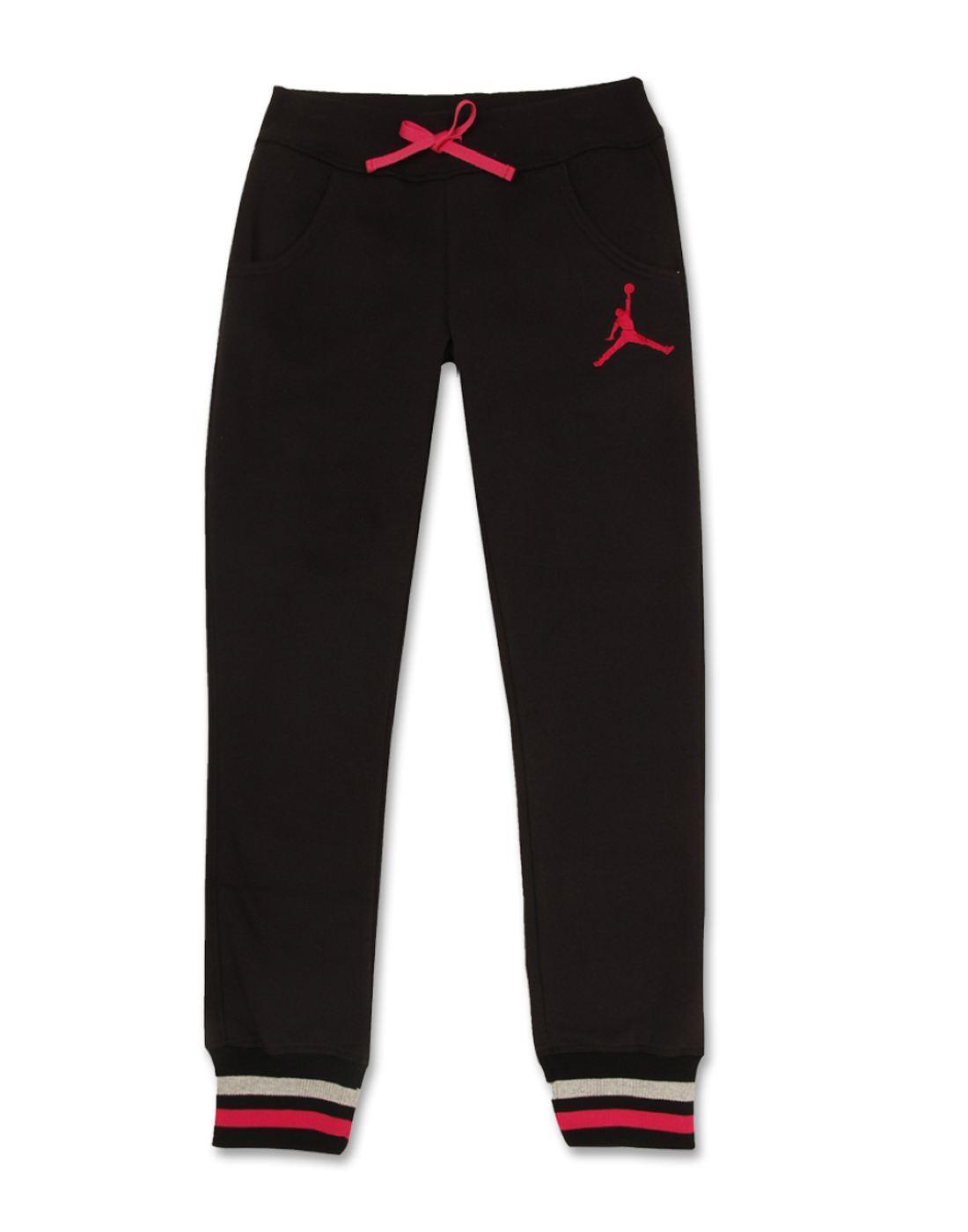 Jordan Girls Black Solid Bottom