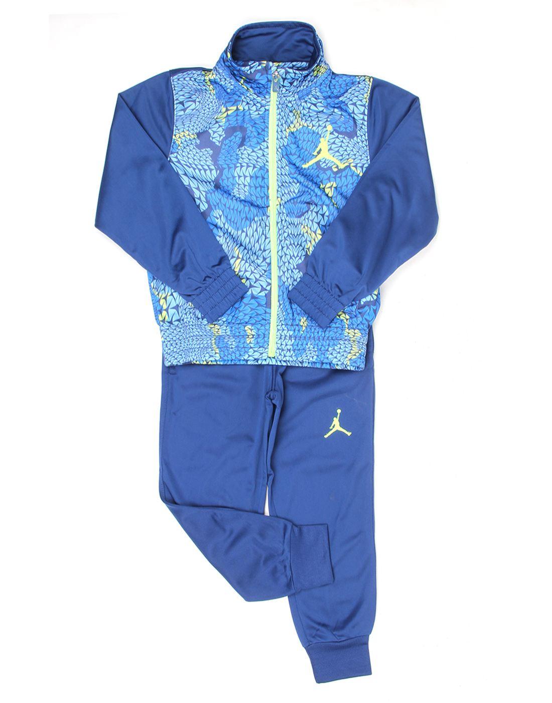 Jordan Boys Blue Self Design Set