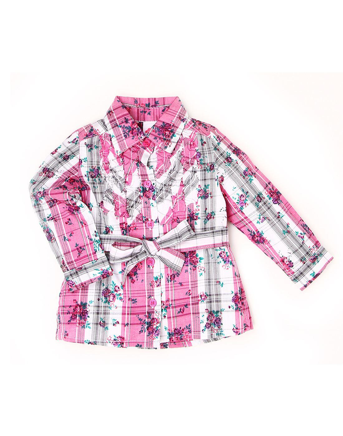 K.C.O 89 Girls Casual Printed Full Sleeve Top