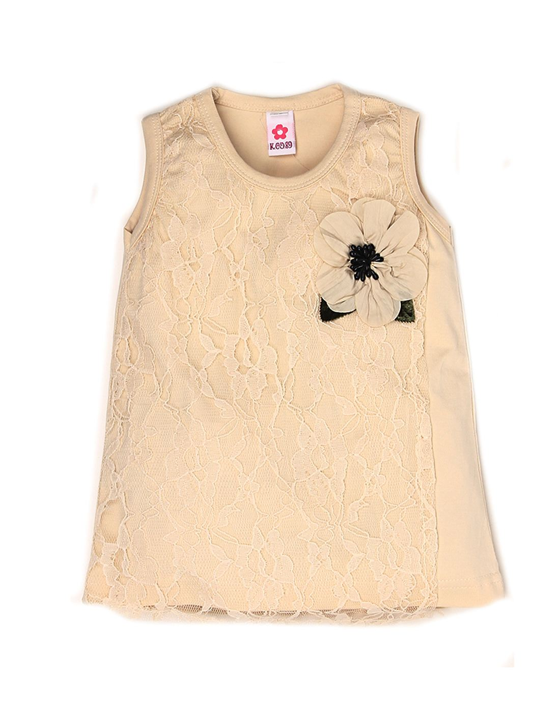 K.C.O 89 Girls Casual Solid Sleeveless Top