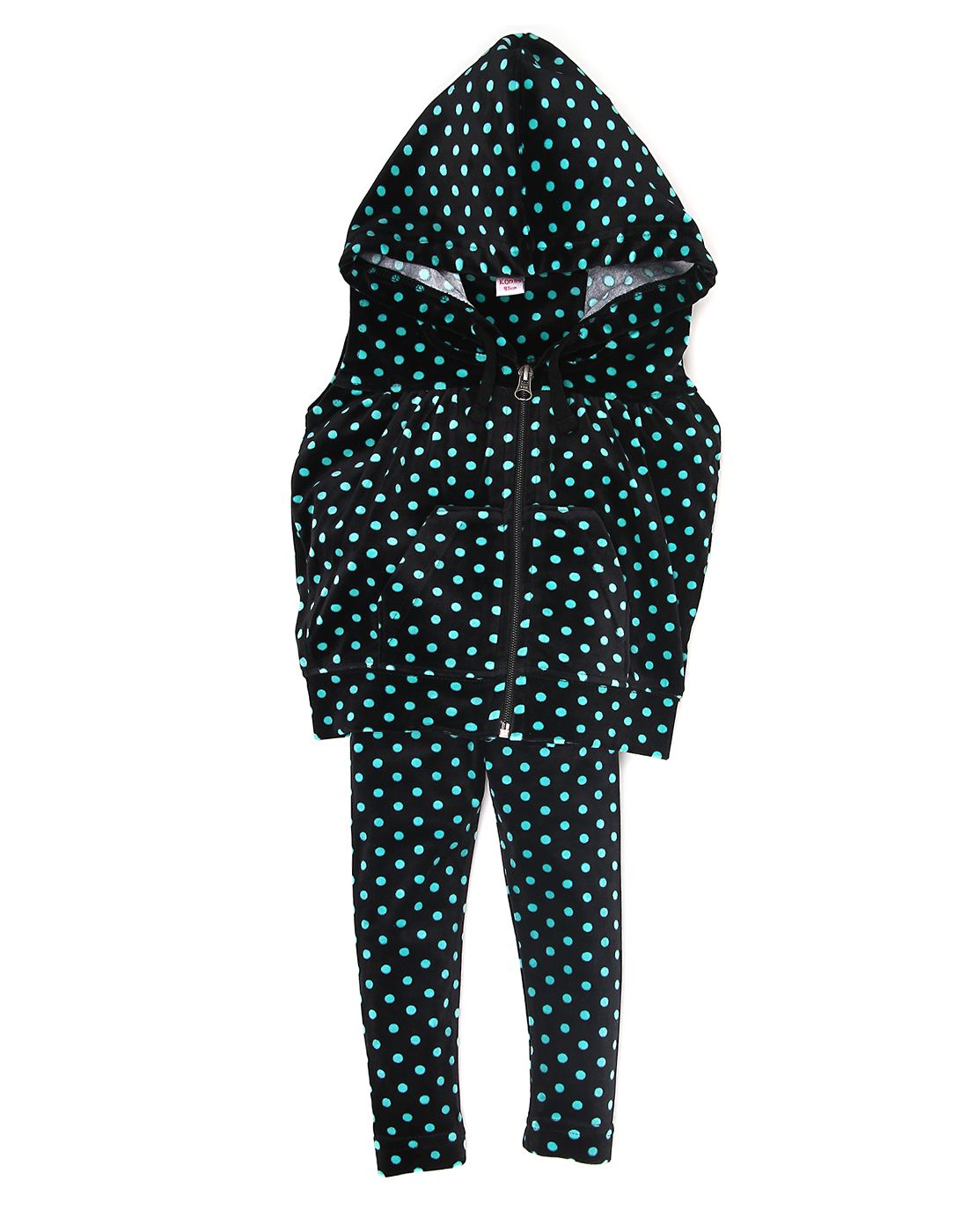 K.C.O 89 Girls Casual Polka Print Sleeveless Track Suit